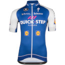 Quick-Step Short Sleeve Long Zip Jersey - Blue/White