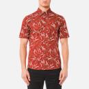 Michael Kors Men's Short Sleeve Slim Dax Print Shirt - Paprika - M - michael kors - thehut.com