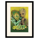Pyramid Guardians of the Galaxy Vol. 2 (Groot Shield) Mounted & Framed 30 x 40cm Print Multi