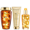 Kérastase Elixir Ultime Bain Riche 8.5oz, Ultime Fondant 6.8oz & Ultime Hair Oil 3.4oz