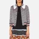 Coach Women's Printed Intarsia Collar Varsity Jacket - Black Multi