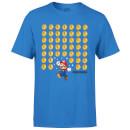 Nintendo Super Mario Coin Drop Men's Blue T-Shirt - M