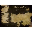 Game of Thrones Westeros and Essos Antique Map 85 x 120cm Canvas Print