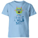 my-little-rascal-i-have-a-wild-side-kids-t-shirt-light-blue-3-4-years-blau
