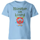 my-little-rascal-monster-on-board-kids-t-shirt-light-blue-3-4-years-blau