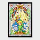 nintendo-legend-of-zelda-link-and-zelda-chromalux-high-gloss-metal-poster
