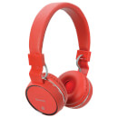 AV: Link Wireless Bluetooth On-Ear Noise Cancelling Headphones (With Built-in FM Radio) Red