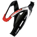 Custom Race Black Glossy Logo Red Bidonhouder