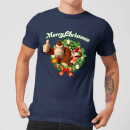 nintendoa-donkey-kong-diddy-kong-merry-christmas-wreath-thumbs-up-t-shirt-blau-m-marineblau
