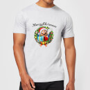 nintendo-super-mario-hat-merry-christmas-wreath-t-shirt-grau-l-grau