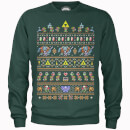 Nintendo Legend Of Zelda Retro Green Christmas Sweatshirt