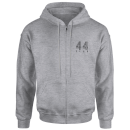 how-ridiculous-44-club-zipped-hoody-sports-grey-s-grau