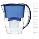 aqua-optima-2-8l-blue-oria-water-filter-jug-with-6-x-60-day-evolve-filter-cartridges-12-month-bundle-