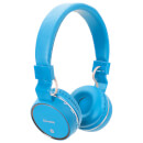 AV: Link Wireless Bluetooth On-Ear Noise Cancelling Headphones (With Built-in FM Radio) Blue