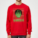 marvel-comics-the-incredible-hulk-retro-weihnachtspullover-rot-s-rot