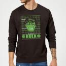 marvel-comics-the-incredible-hulk-retro-weihnachtspullover-schwarz-m-schwarz