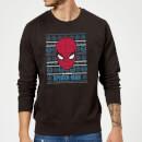 marvel-comics-the-amazing-spiderman-weihnachtspullover-schwarz-m-schwarz