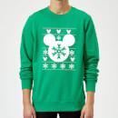 disney-mickey-mouse-christmas-schneeflocken-silhouette-weihnachtspullover-grun-s-grun