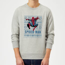 marvel-comics-spiderman-leap-weihnachtspullover-grau-xl-grau