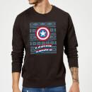 marvel-comics-captain-america-schild-weihnachtspullover-schwarz-m-schwarz