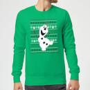disney-frozen-olaf-weihnachtspullover-grun-s-grun
