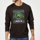 marvel-comics-the-incredible-hulk-weihnachtspullover-schwarz-m-schwarz