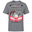 Marvel Contest Of Champions Hulk Vs Thor T-Shirt - Charcoal