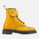 Dr. Martens Toddlers' Jake Boot Smooth and Synthetic PU Lace Low Boots - Yellow