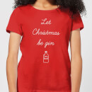 let-christmas-be-gin-women-s-t-shirt-red-xl-rot