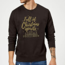 full-of-christmas-spirits-sweatshirt-schwarz-3xl-schwarz