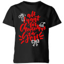 all-i-want-for-christmas-kids-t-shirt-black-11-12-jahre-schwarz