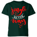 jingle-all-the-way-kids-t-shirt-forest-green-11-12-jahre-forest-green
