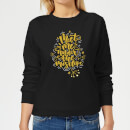 meet-me-under-the-mistletoe-frauen-sweatshirt-schwarz-s-schwarz