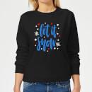 let-it-snow-frauen-sweatshirt-schwarz-s-schwarz
