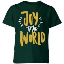 joy-to-the-world-forest-green-kids-t-shirt-5-6-years-forest-green