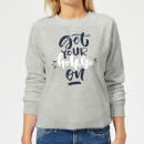 get-your-ho-ho-ho-on-frauen-sweatshirt-grau-xl-grau