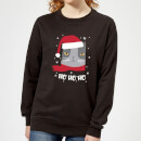 ho-ho-ho-frauen-sweatshirt-schwarz-m-schwarz