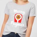 merry-pugmas-women-s-t-shirt-grey-xs-grau