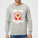 merry-pugmas-sweatshirt-grau-s-grau