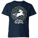unicorn-christmas-kids-t-shirt-navy-11-12-jahre-marineblau