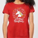 unicorn-christmas-women-s-t-shirt-red-xl-rot
