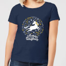 unicorn-christmas-women-s-t-shirt-navy-s-marineblau