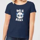 pugs-kisses-women-s-t-shirt-navy-s-marineblau