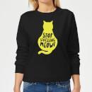 stop-stressing-meowt-women-s-sweatshirt-black-m-schwarz