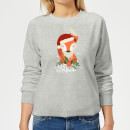 christmas-fox-hello-christmas-frauen-sweatshirt-grau-xs-grau