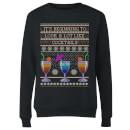 its-beginning-to-look-a-lot-like-cocktails-frauen-sweatshirt-schwarz-s-schwarz