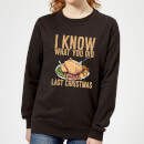 i-know-what-you-did-last-christmas-frauen-sweatshirt-schwarz-3xl-schwarz