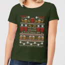 tis-the-season-to-be-trollied-women-s-t-shirt-forest-green-m-forest-green