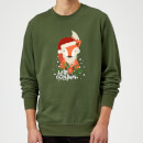 christmas-fox-hello-christmas-sweatshirt-grun-m-grau