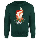 christmas-fox-hello-christmas-sweatshirt-grun-s-grau
